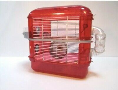 Fantazia - The Ultimate Glitter Cage - For Your Superstar Hamster - Red