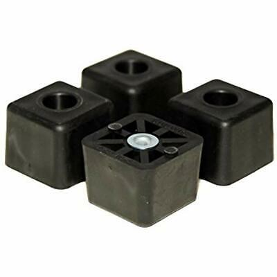 Furniture Pads 4 Large Cube Square Rubber Feet Bumpers - 1.125 H X 1.500 W Made