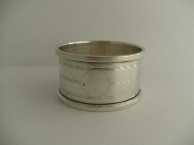 LOVELY SOLID SILVER NAPKIN RING Birmingham 1925