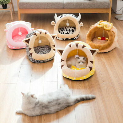 Soft Pet Dog Cat Bed House Kennel Doggy Puppy Warm Cushion Basket Pad Mat S-L