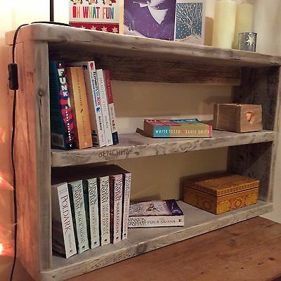Wooden Rustic Reclaimed Wood Shelving Unit Bookshelf Handmade Storage Solid