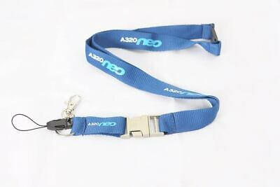 Airbus A320 lanyard   Logo engraved on metal buckle   Buy 5 and get 1 FREE