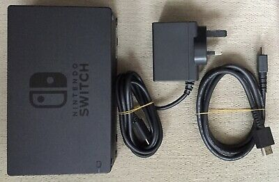 Genuine Original Official Nintendo Switch Dock + A/C Mains Power Charger + Hdmi