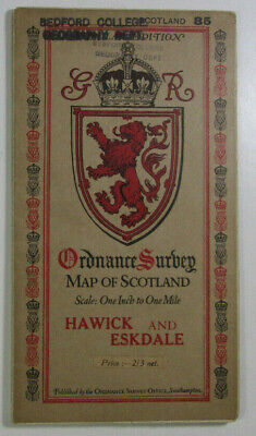 1926 Old OS Ordnance Survey Popular Edition One-Inch Map 85 Hawick & Eskdale