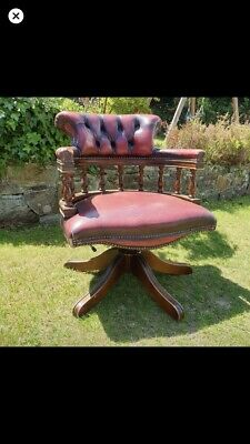leather captains swivel chair