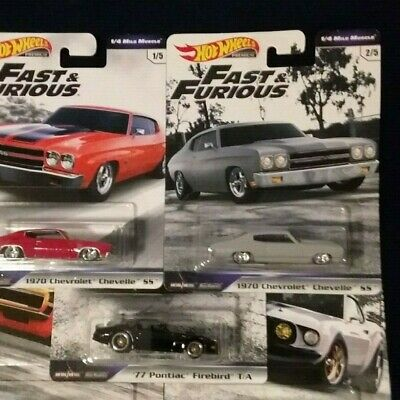 2019 HOT WHEELS Car Culture Fast and Furious  Mile Muscle  Set