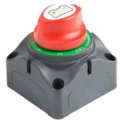 3 Position Disconnect Isolator Master Switch, 12-60V Battery Power Cut Off S5I8