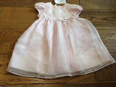 BNWT Disney Store Pink Bambi Short Slv Baby Girls Party Dress Age 3-6 Months NEW