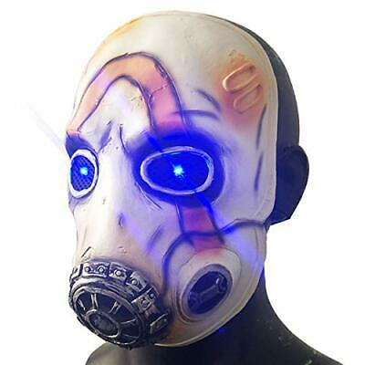 Game Borderlands 3 Psycho Latex Mask Led Light Eyes Scary Halloween Cosplay