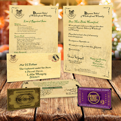 Hogwarts Letter Personalised Harry Potter Gift Free Express Ticket