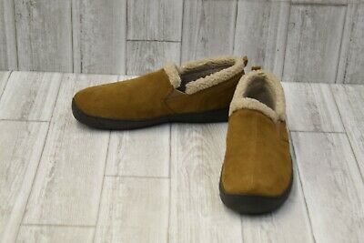 L.B. Evans Hideaways Roderic Suede Moccasin Slippers, Men's Size 11M, Hashbrown