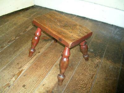 19th century antique country milking stool. Original paint.