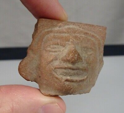 Pre Columbian Pottery Mexico Head Fragment   -   57183