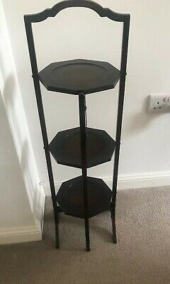 Vintage Antique Victorian 3 Tier Fold Away Cake Stand