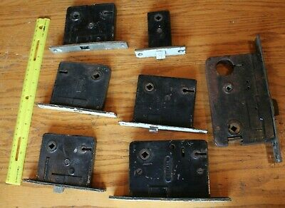 Mortise Lock Lot of 7 Vintage door locks Skeleton key Russwin Norwalk Sargent