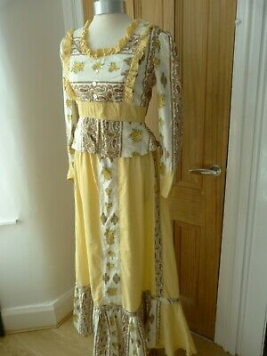 Long yellow skirt and top, fancy dress, theatre, Victorian, Downton, pantomime