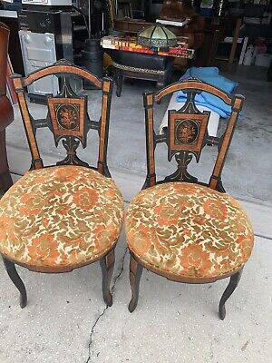 Pair of Herter Brothers Chairs Aesthetic Period