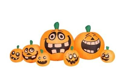 8.5 Ft Long Airblown Inflatable Halloween Pumpkin Patch New In Box