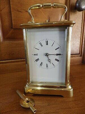 French Repeating Carriage clock Early Example Striking On A Bell 1860-80s