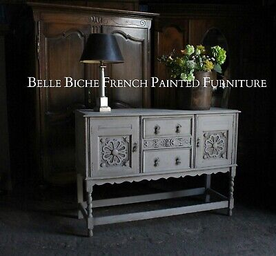 French Painted Antique Sideboard Server - Fabulous Rustic Style Piece