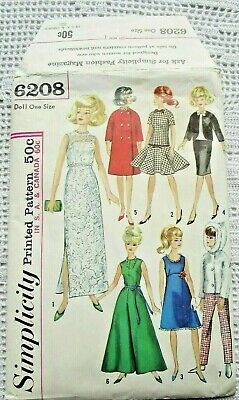 Casual Clothesl Vtg 1960s Barbie Ken Midge Annette ~ Ski Oufits Dress /& Suit