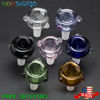 14mm Male Colorful Round Glass Slide Bowl Downstem Color Pink Purple Blue Green