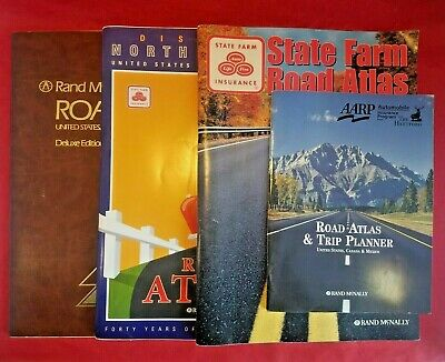 Lot of 4 - Rand McNally USA Road Atlas & Travel Planner Maps 1989 - 2004