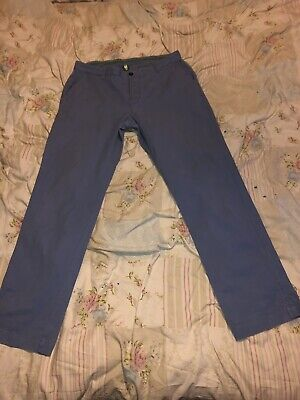 Mens 36w Joules Chino Trousers 36/31 Designer Stratton Chinos Green Logo Cotton