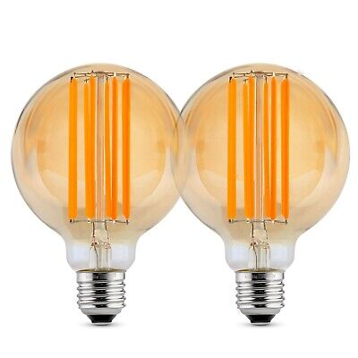Albrillo Vintage Edison Light Bulbs Dimmable E26 LED 720LM Warm White 2 Pack