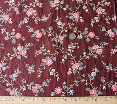 Antique Block Printed French c1840-60 Cotton/Linen Provencal Fabric~16X15~Dolls