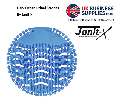 Janit-X BULK OFFER Urinal Screens Dark Ocean 1 -100 Screens GREAT VALUE