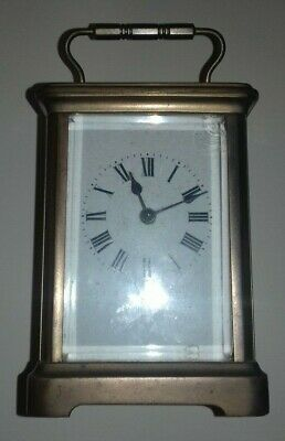 Carriage Clock, French, Seems To Work , Chip On Front Glass Panel, With Case
