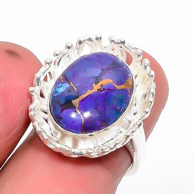 Copper Mohave Purple Turquoise 925 Sterling Silver Ring 5.5 (13)