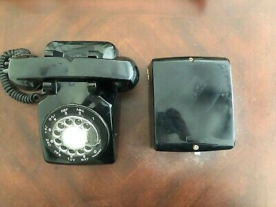 VTG Western Electric Bell Systems Telephone Ringer 687A & Black Rotary Phone