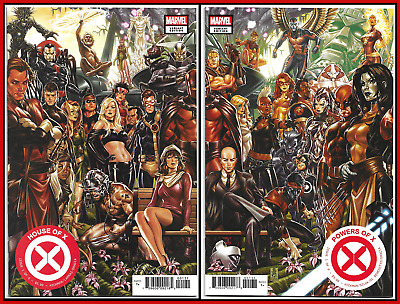 House of X #1 & Powers of X #1 Brooks Connecting Variant Set 🔥 NM