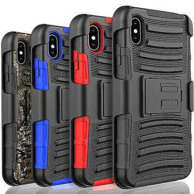 For Samsung Galaxy A10E Holster Clip Armor Phone Case, +Tempered Glass Protector