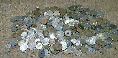 Huge Foreign Coin Lot 6 Lbs 6 Oz World Currency Money Circulated 560+ Coins