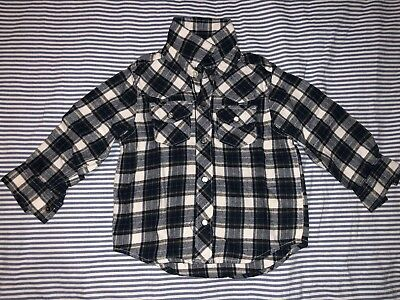 Baby Gap Boys Plaid Shirt Snap Botton Flannel Shirt Top 3 Years SELLING TONS!