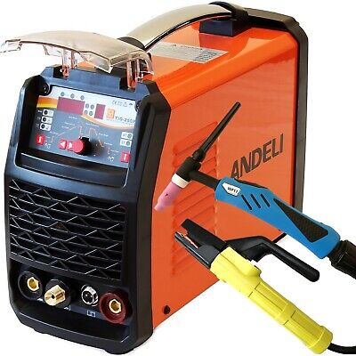 250Amp Pulse Tig/Tig/Mma Dc Inverter Welder 3 In 1 Welding Machine + Accessories