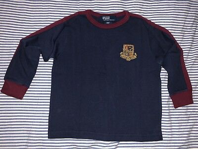 Ralph Lauren Polo Boys Navy Long Sleeve Cotton T-shirt Top Tee 2T SELLING TONS!!
