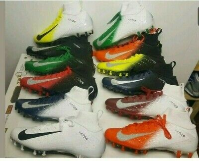 Nike Vapor Untouchable Pro 3 Football Cleats White Black Red Silver 917165-105