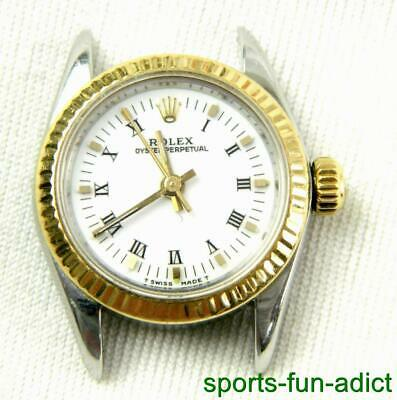 1991 ROLEX Oyster Perpetual 14K Gold & Steel White Dial Automatic Jubilee Watch