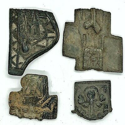 4 Medieval European Sacred Holy Relic Fragments Orthodox Christian 600-1400 AD