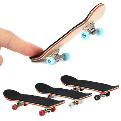 Mini Complete Wooden Fingerboard Finger Desk Skate Board Wood Toy US Post