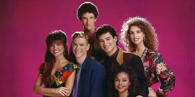 "Saved by the Bell ( pink background ) 24 X 36"" Poster"
