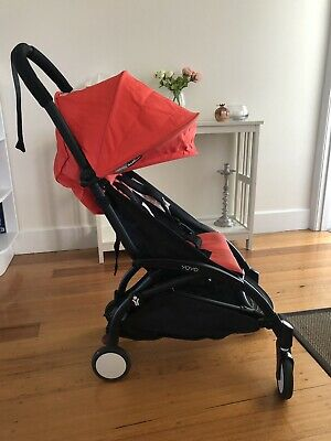 Babyzen Yoyo Stroller With Accessories || Excellent Condition || Red On Black
