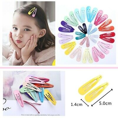 20x Baby Kid Girls Snap Hair Clips Pins BB Hairpins Barrettes Hair Accessory UK