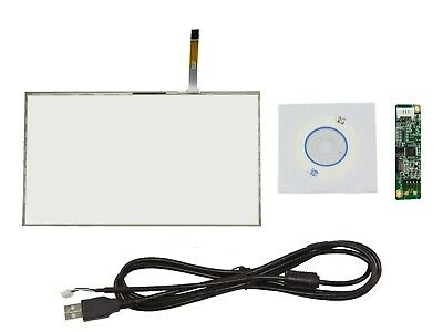 """7/"""" 4 Wire Touch Panel With USB Driver Card 163.5mmx99mm for 16:9 LCD Screen"""