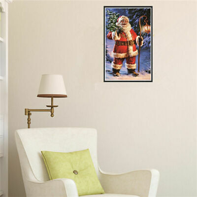 5D Diamond Embroidery Painting Cross Stitch Kits Christmas Xmas Home Decor N9P8