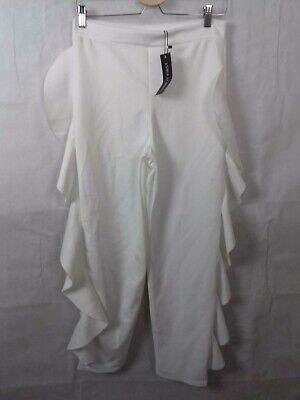 I Saw It First Size 12 White Frill Side Trousers